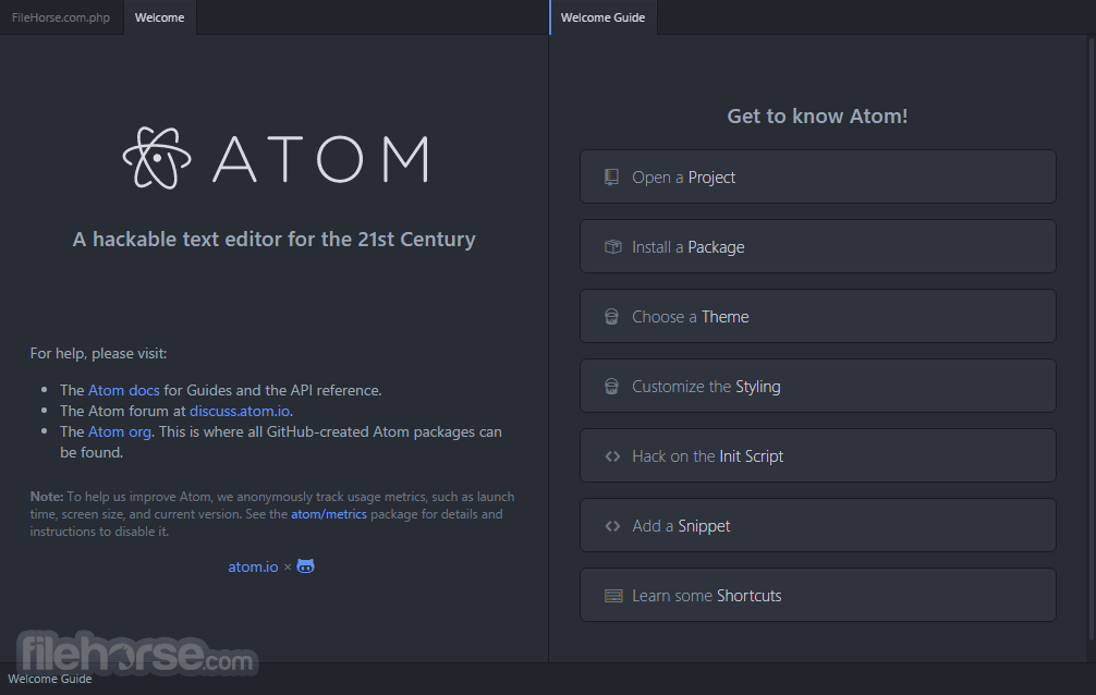 Atom 1.35.1 Screenshot 1