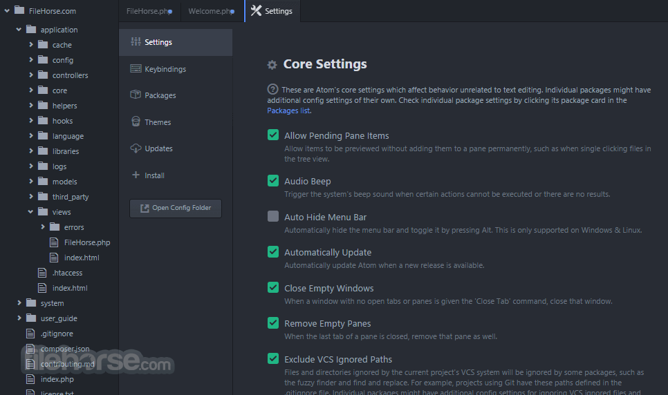 Atom 1.35.1 Screenshot 4