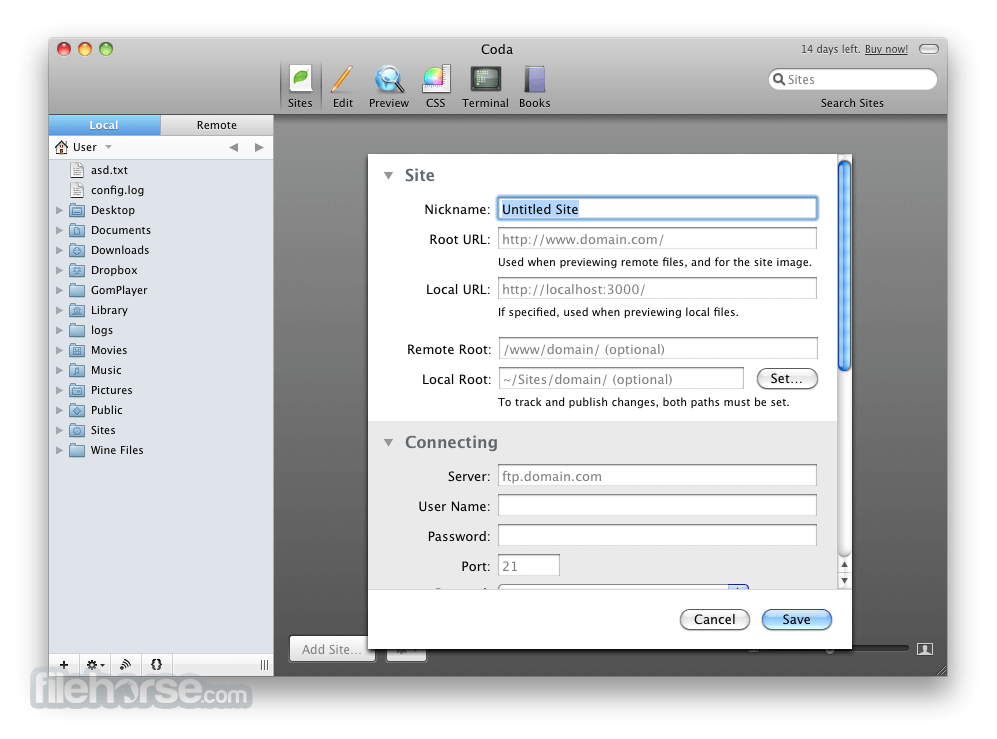 Coda 2.5.5 Screenshot 2