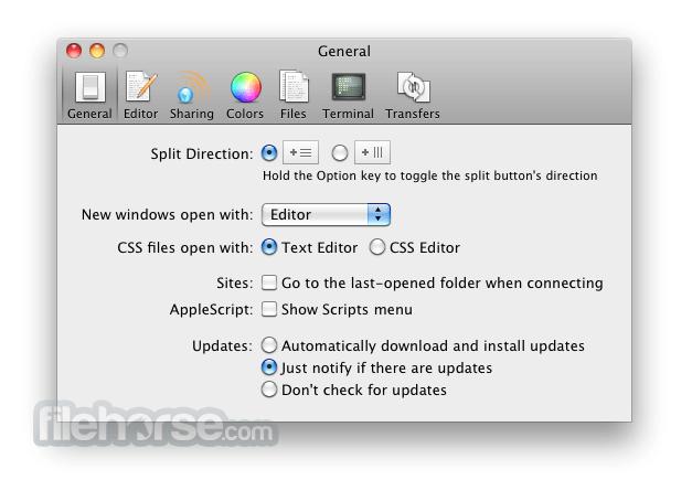 Coda 2.6.9 Screenshot 4
