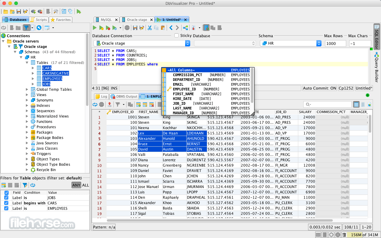 DbVisualizer 12.0.2 Captura de Pantalla 1