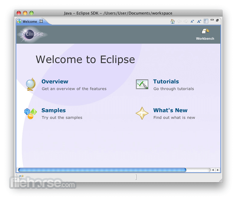 Eclipse SDK 4.2.2 (64-bit) Captura de Pantalla 1