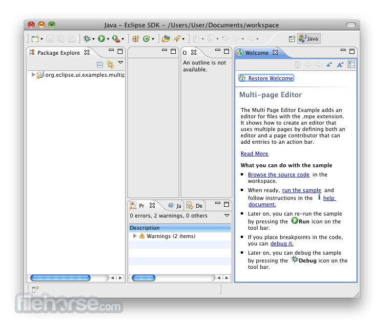 Eclipse SDK 4.1.2 (64-bit) Screenshot 2