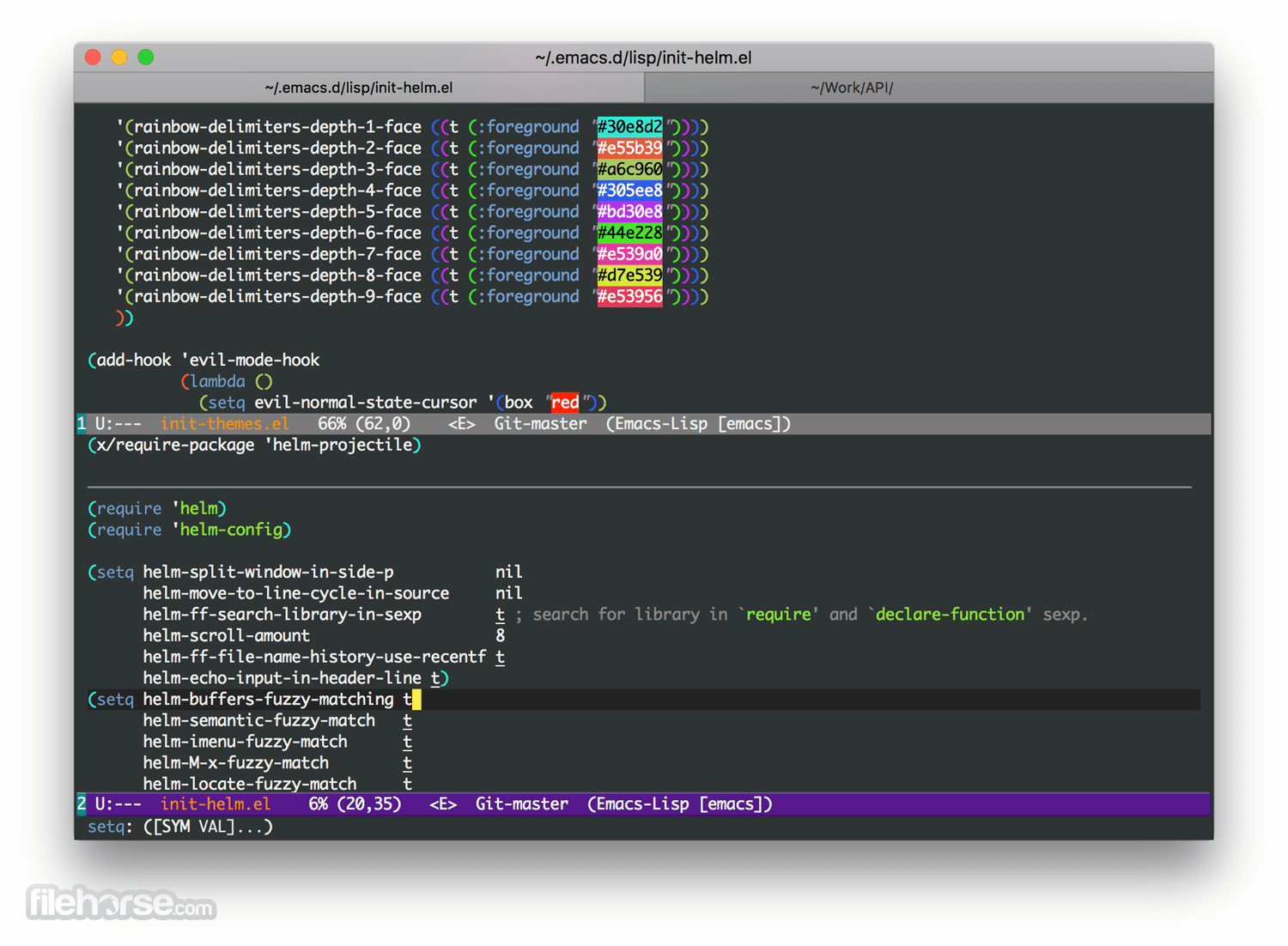 Emacs 26.3 Screenshot 1