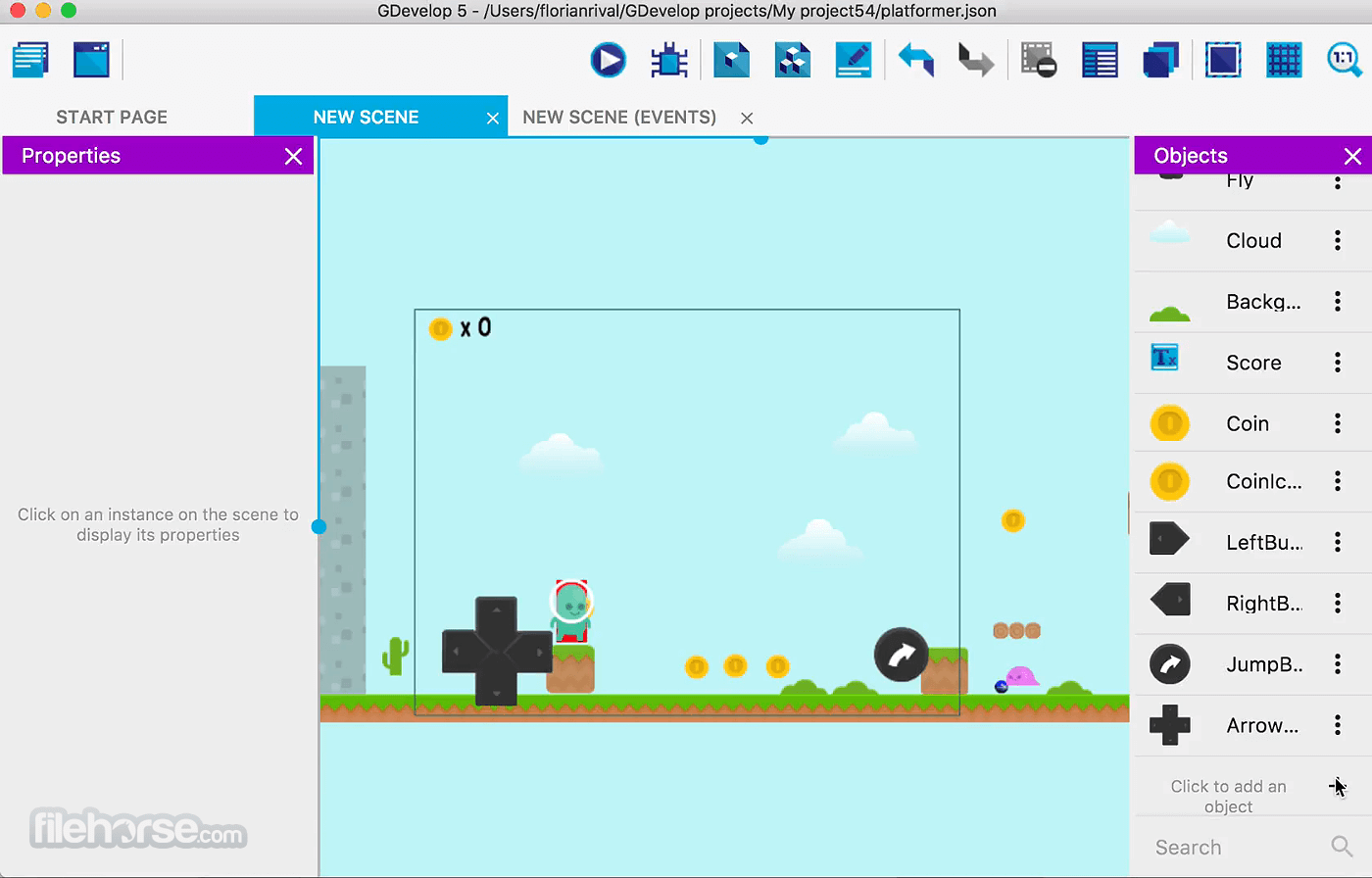GDevelop 5.0.0 Beta 105 Screenshot 1