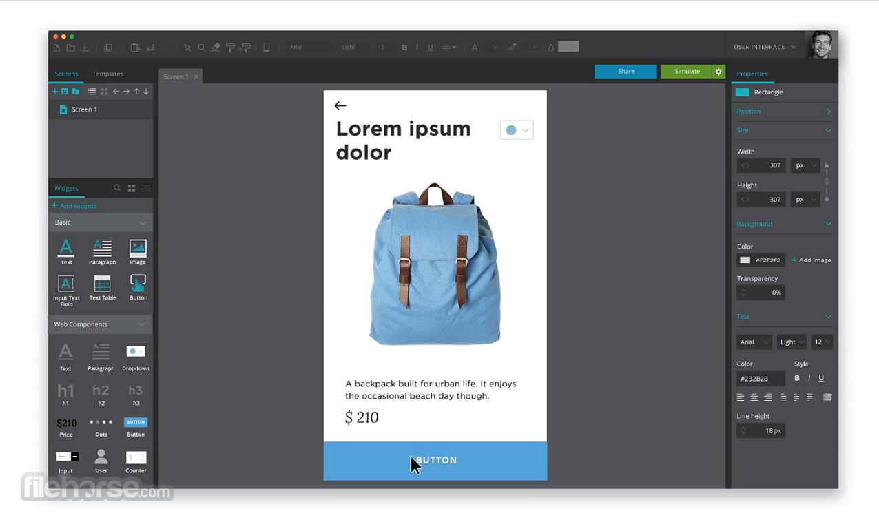 Justinmind Prototyper Pro 8.7.5 Screenshot 1