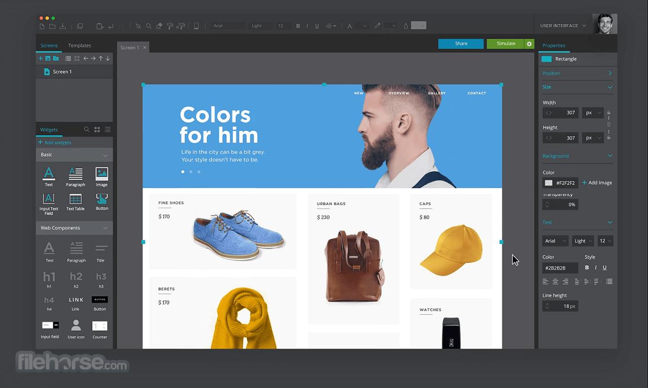 Justinmind Prototyper Pro 8.7.5 Screenshot 2