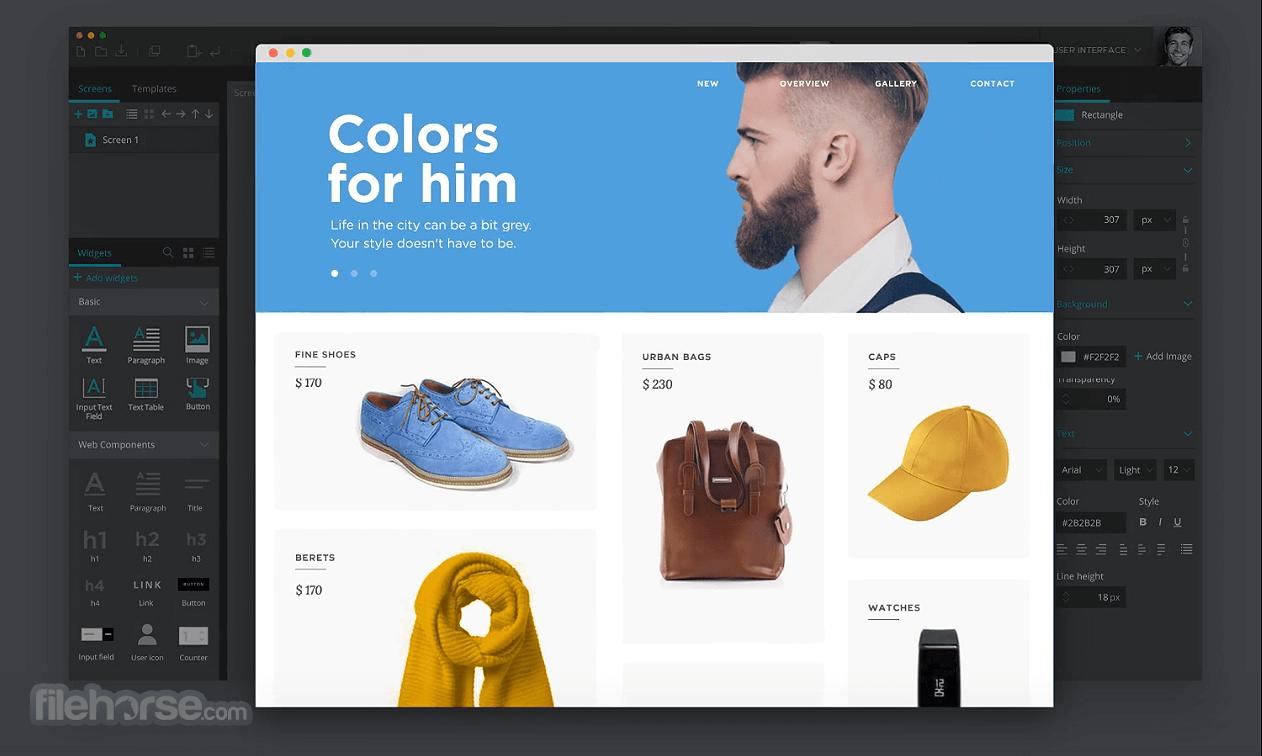 Justinmind Prototyper Pro 8.7.5 Screenshot 3