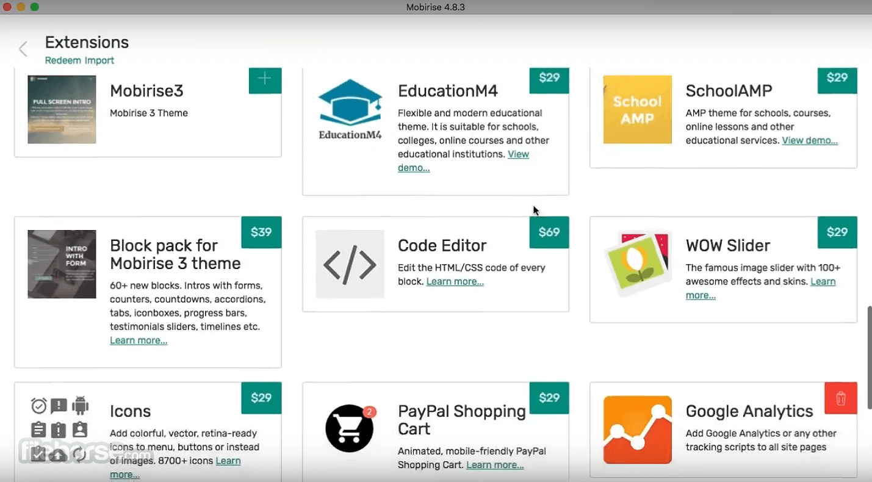 Mobirise 5.3.0 Screenshot 2