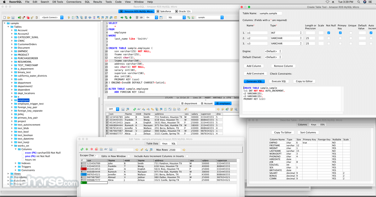 RazorSQL 9.3.2 Screenshot 1