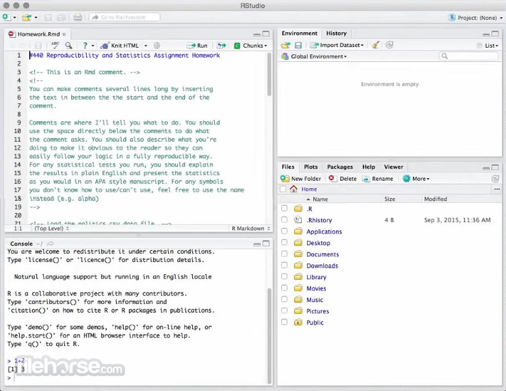 R-studio for mac 10.10