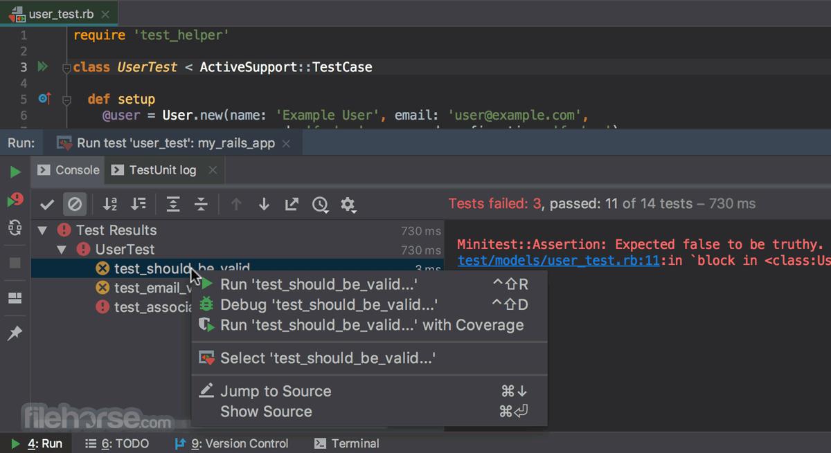 RubyMine 2020.2.3 Captura de Pantalla 3