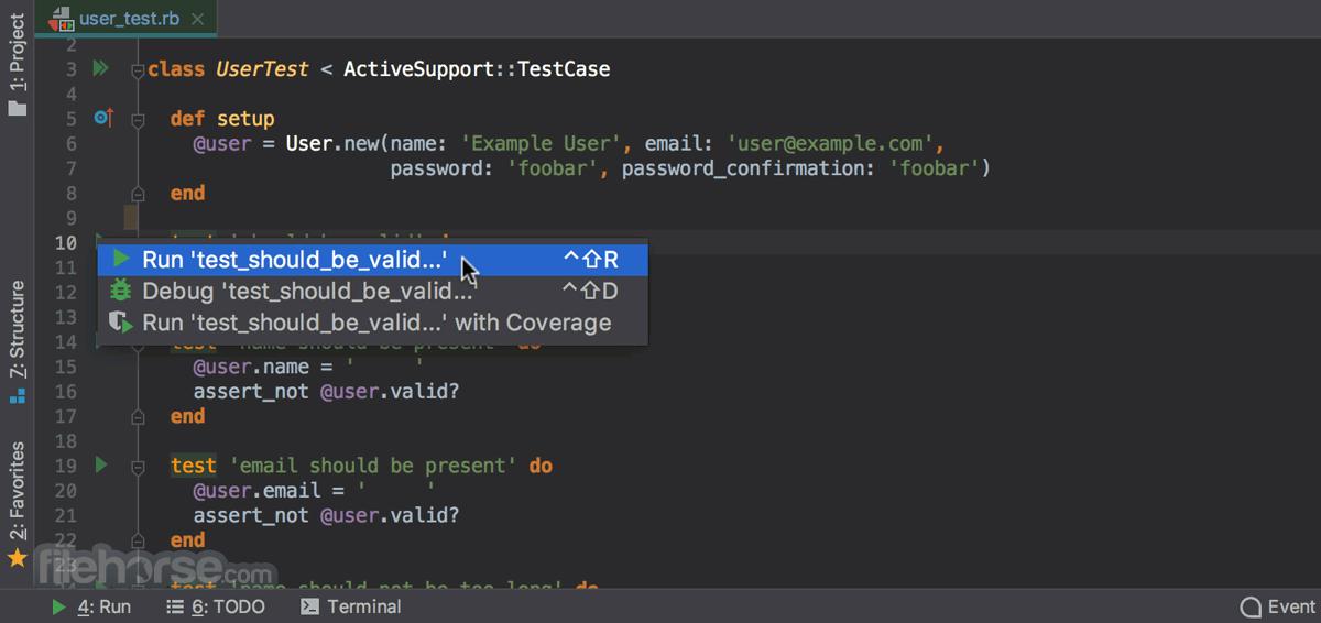 RubyMine 2020.2.3 Captura de Pantalla 5
