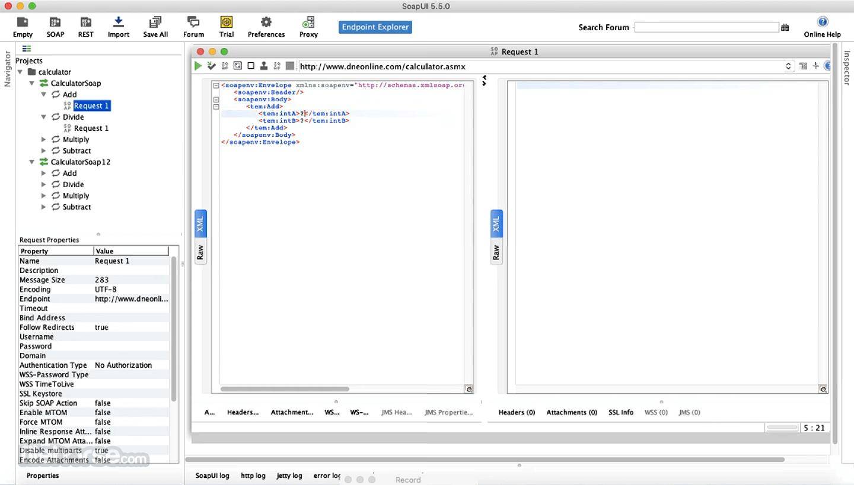 soapUI 5.5.0 Screenshot 3