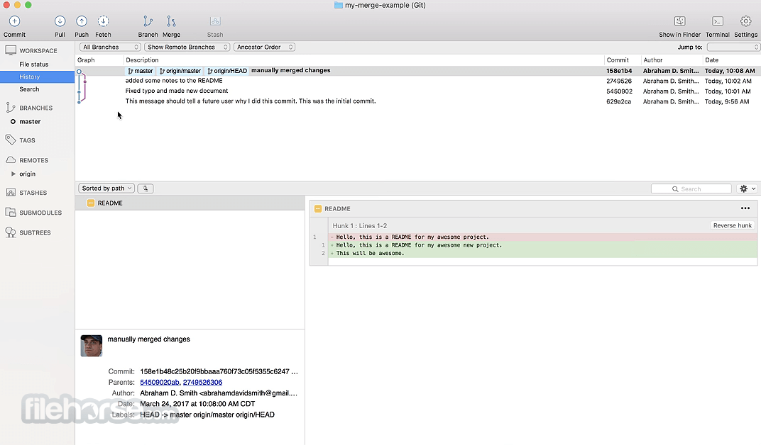 SourceTree 2.7.4c Screenshot 1