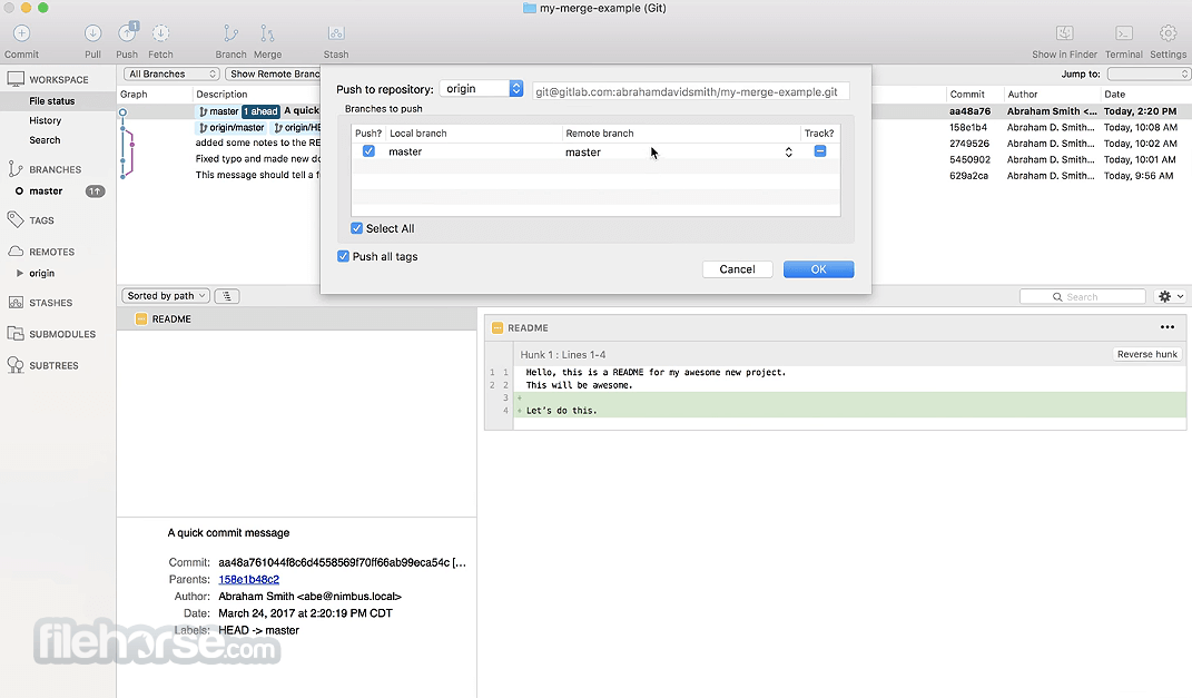 SourceTree 2.6.3a Screenshot 2