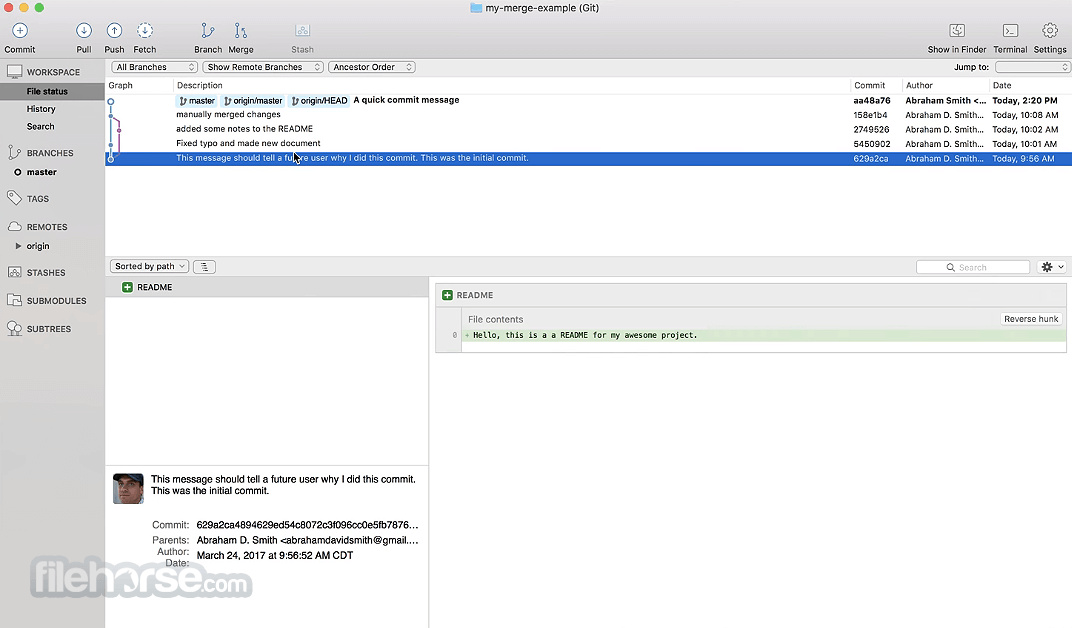 SourceTree 2.6.3a Screenshot 3