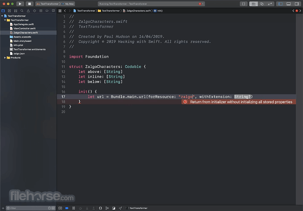 Swift 5.3 Captura de Pantalla 1