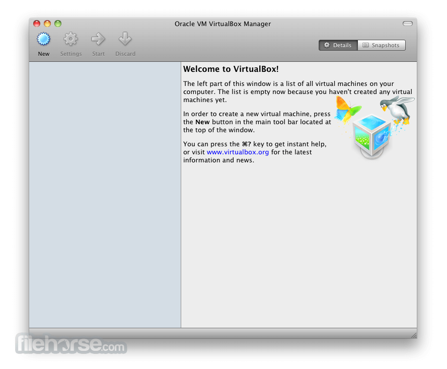 VirtualBox 5.0.20 Build 106931 Screenshot 1