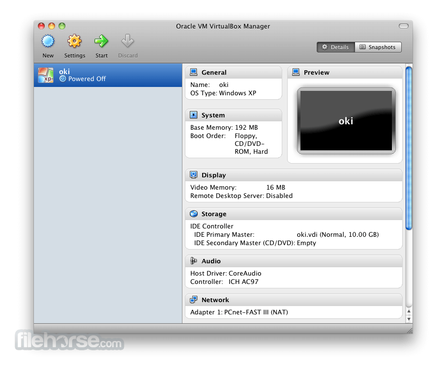 VirtualBox 5.0.20 Build 106931 Screenshot 4