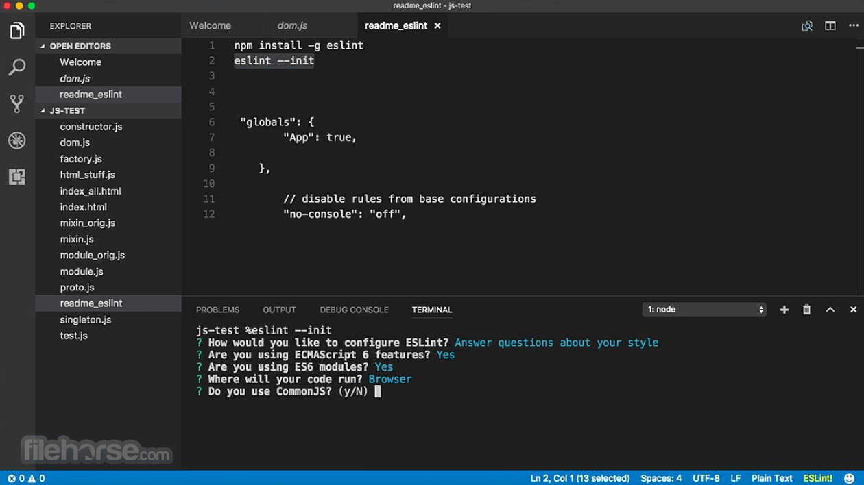 Visual Studio Code 1.53.2 Captura de Pantalla 1