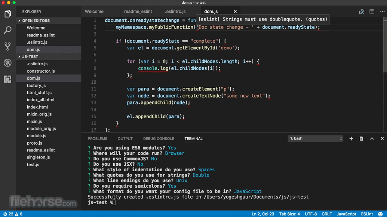 Visual Studio Code 1.53.2 Captura de Pantalla 2