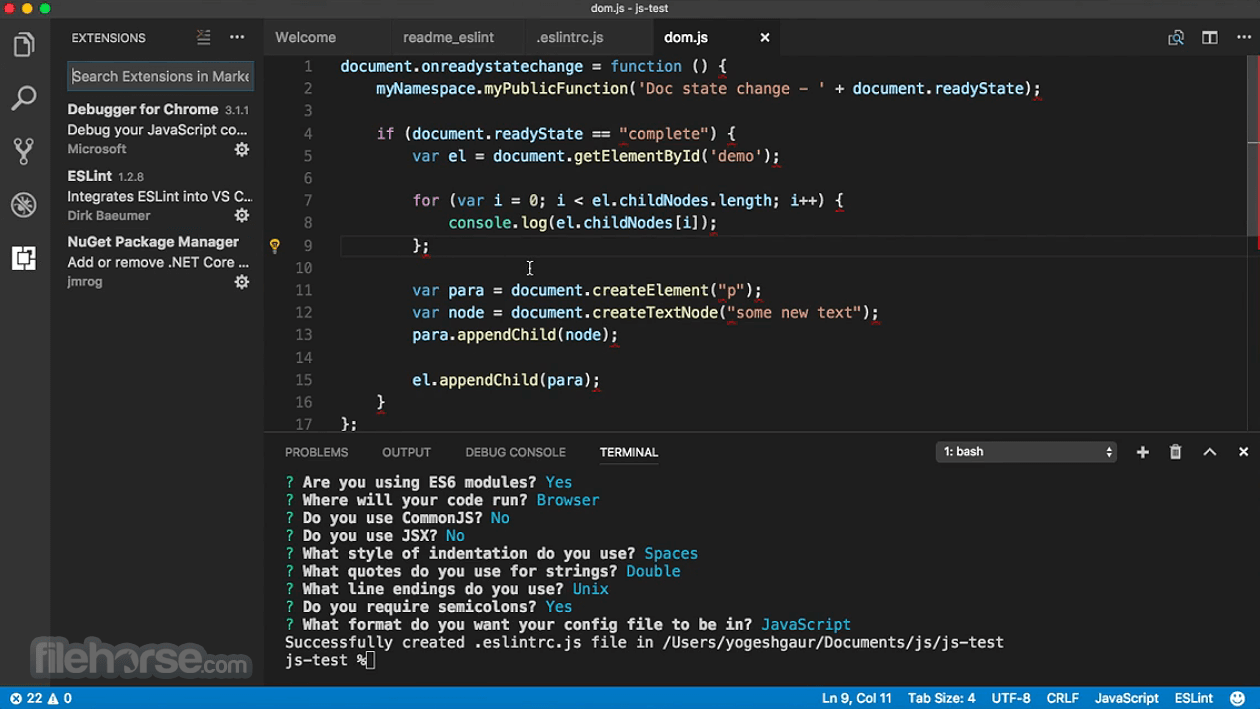 Visual Studio Code 1.53.2 Captura de Pantalla 3