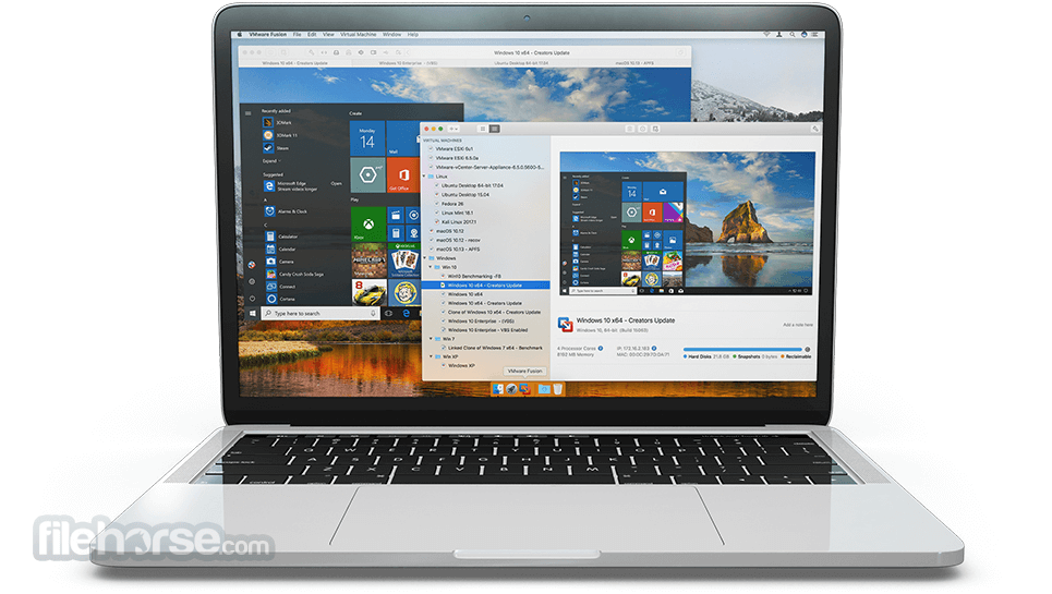 VMware Fusion 10.1.0 Build 7370838 Screenshot 1