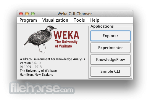 Weka 3.9.0 Screenshot 1
