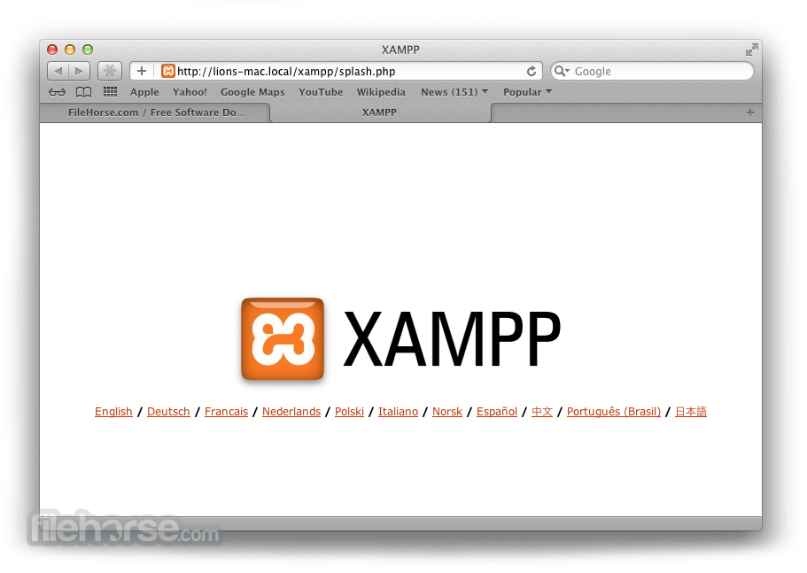 XAMPP 0.1 Beta Captura de Pantalla 4