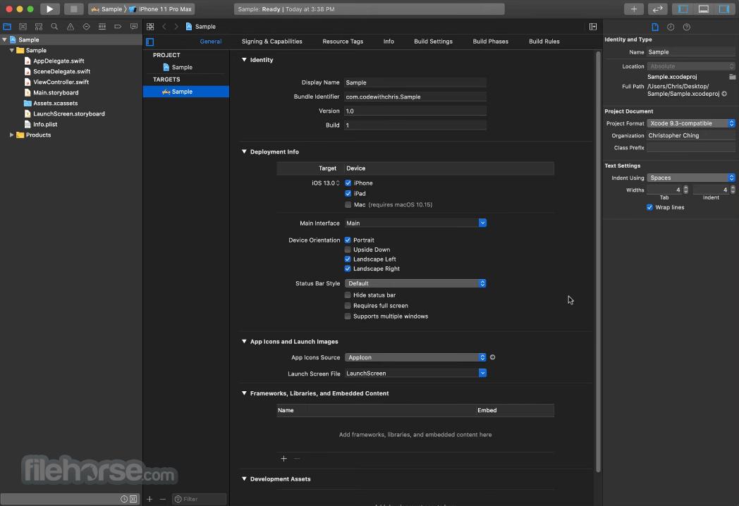 Xcode 12.2 Captura de Pantalla 1