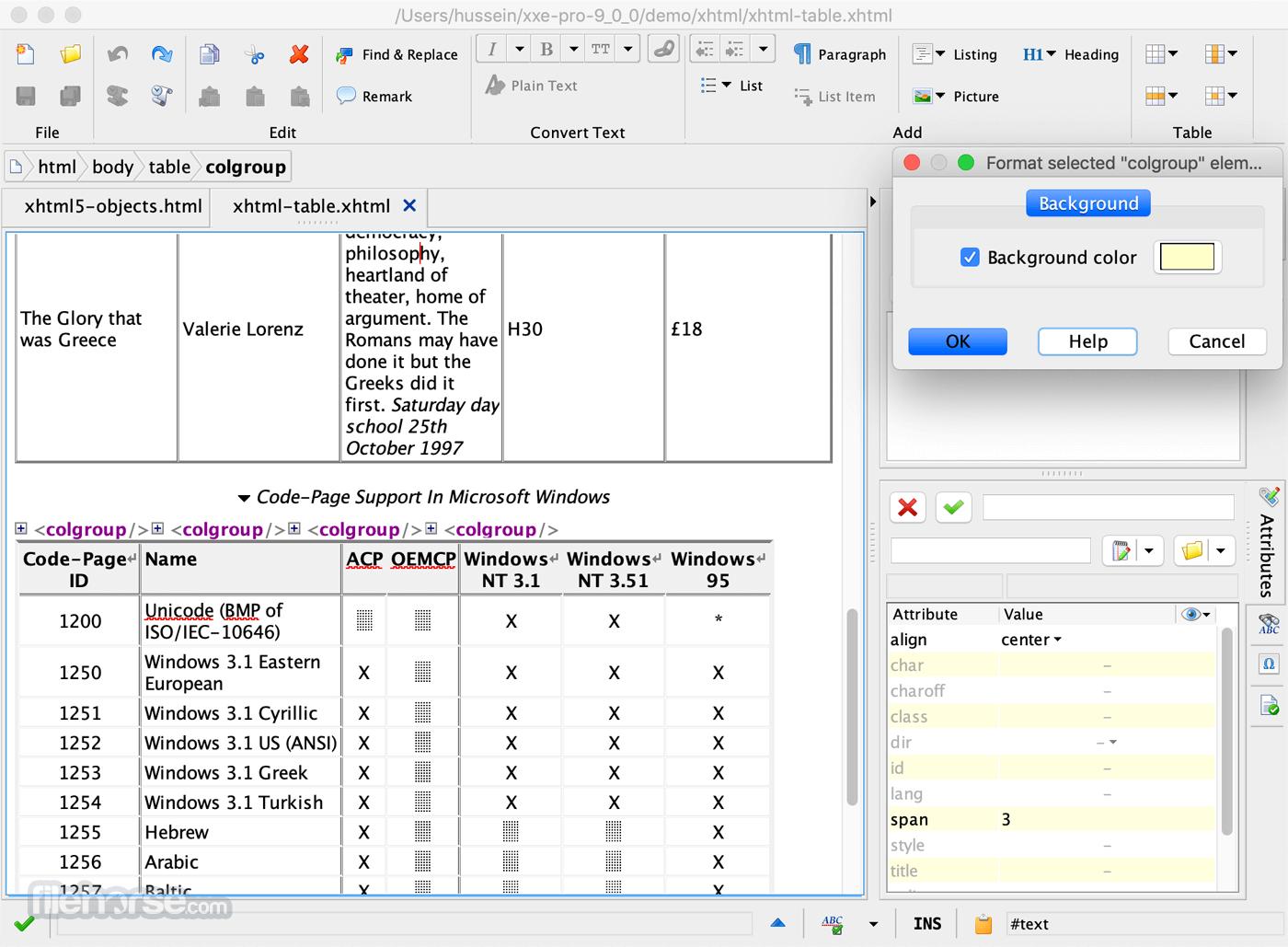 XMLmind XML Editor 9.5.0 Captura de Pantalla 2