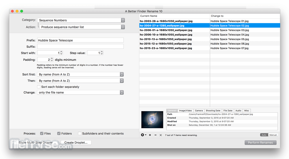 A Better Finder Rename 10.29 Screenshot 1