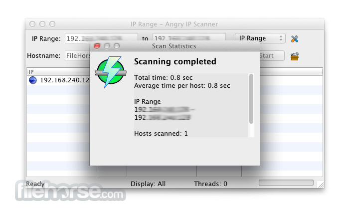 Angry IP Scanner 3.4.2 Captura de Pantalla 2