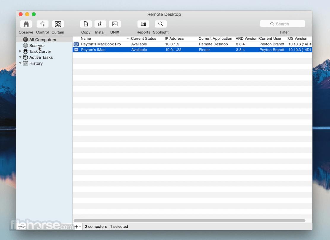 Apple Remote Desktop 3.9.3 Captura de Pantalla 1