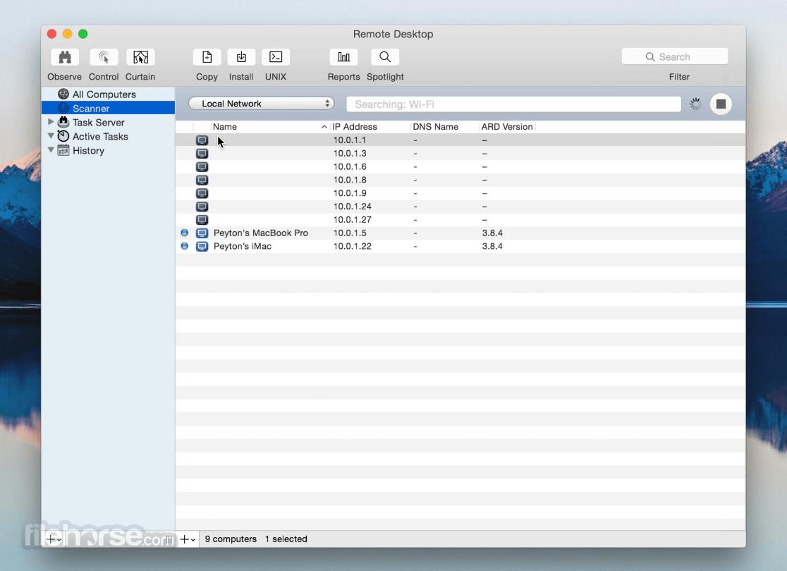 Apple Remote Desktop 3.9.3 Captura de Pantalla 2