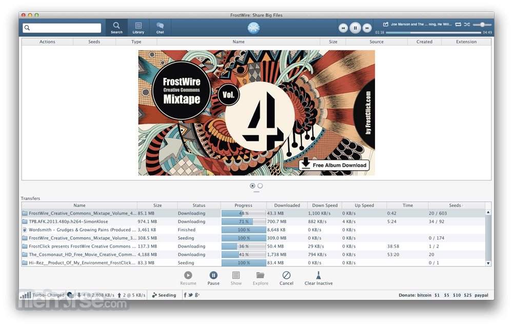 FrostWire for Mac - Download Free (2019 Latest Version)