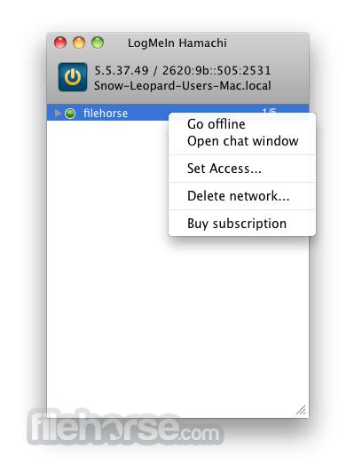 LogMeIn Hamachi 2.1.0.692 Screenshot 1