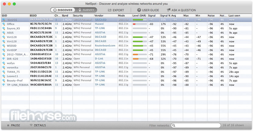NetSpot 2.2.453 Screenshot 4