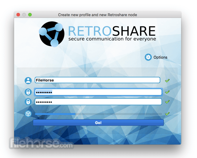 Retroshare 0.6.5 Captura de Pantalla 1