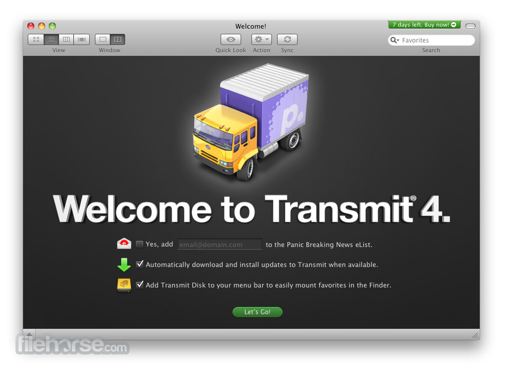 Transmit 5.2 Screenshot 1