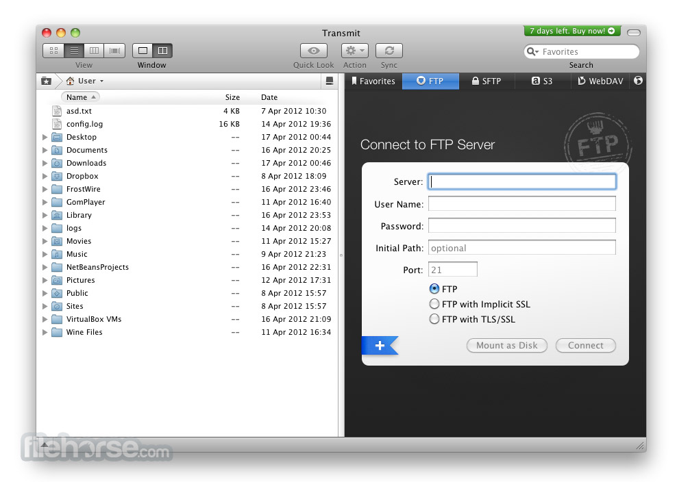 Transmit 5.2 Screenshot 2