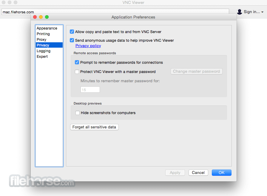 VNC for Mac 5.2.2 Screenshot 3