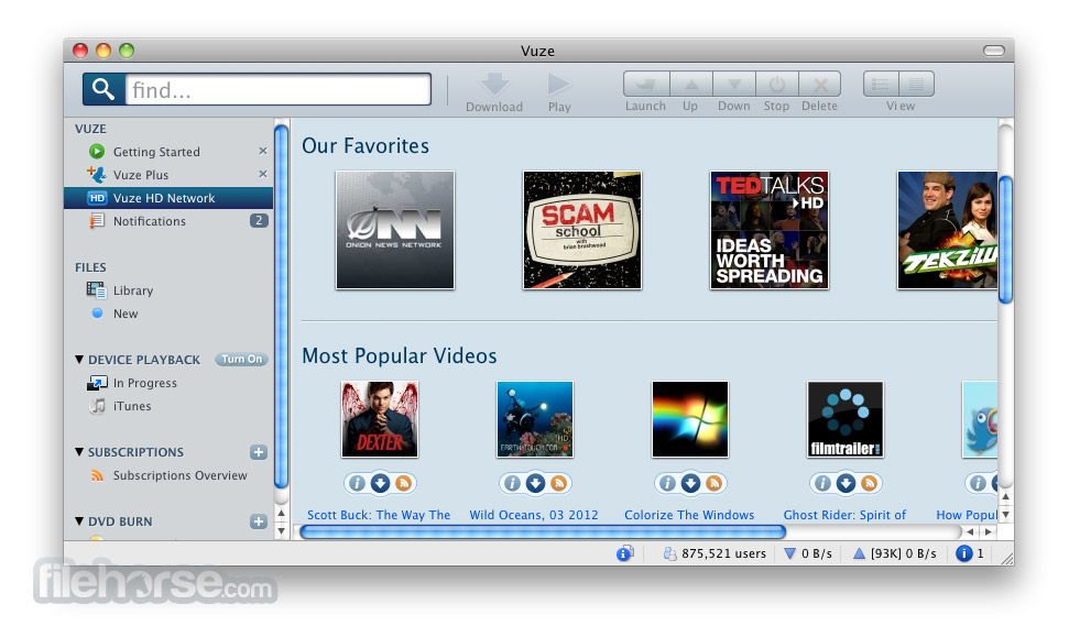 Vuze 4.3.1.4 Screenshot 2