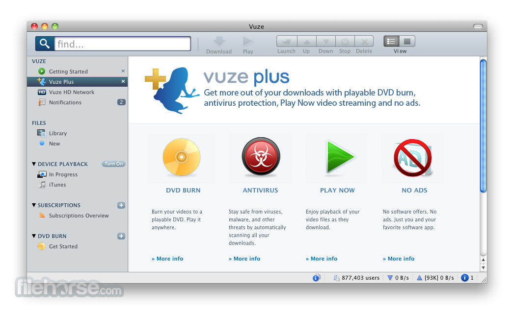 Vuze 4.9 Screenshot 3