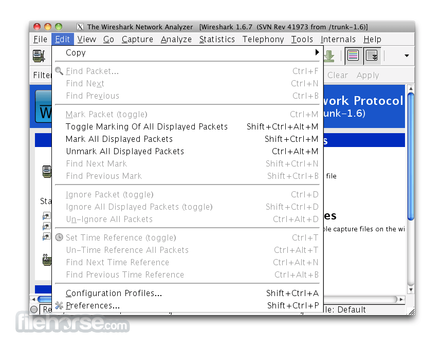 WireShark 1.5.0 (64-bit) Captura de Pantalla 2