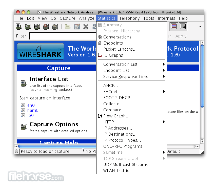 Wireshark 2.0.10 (64-bit) Captura de Pantalla 4