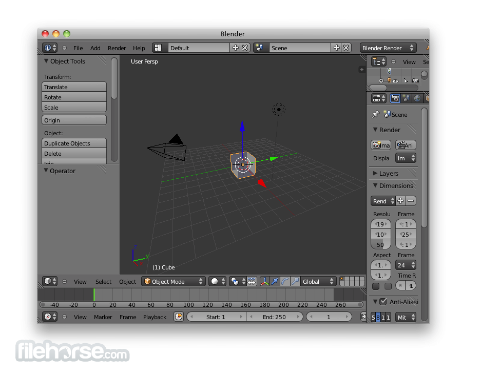 Blender 2.58a (32-bit) Captura de Pantalla 1