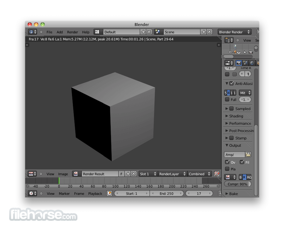 Blender 2.66 (64-bit) Screenshot 2