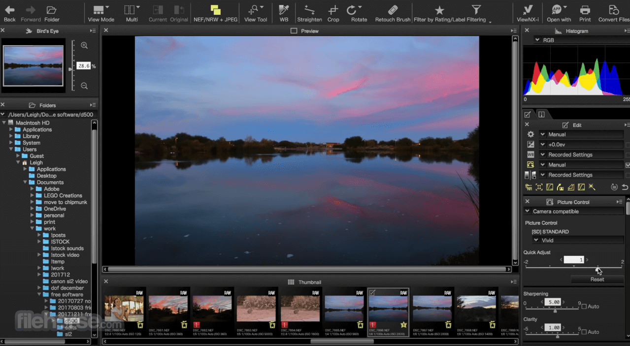 Capture NX-D 1.6.5 Screenshot 3